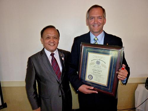 Mr. Glenn Duncan's Rotary Club Induction
