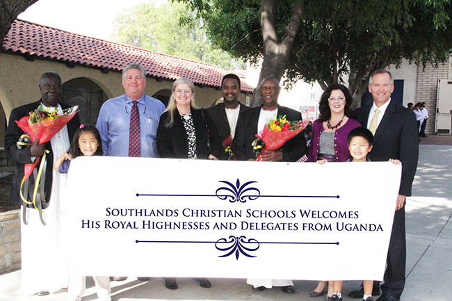 African king visits Southlands Christian School