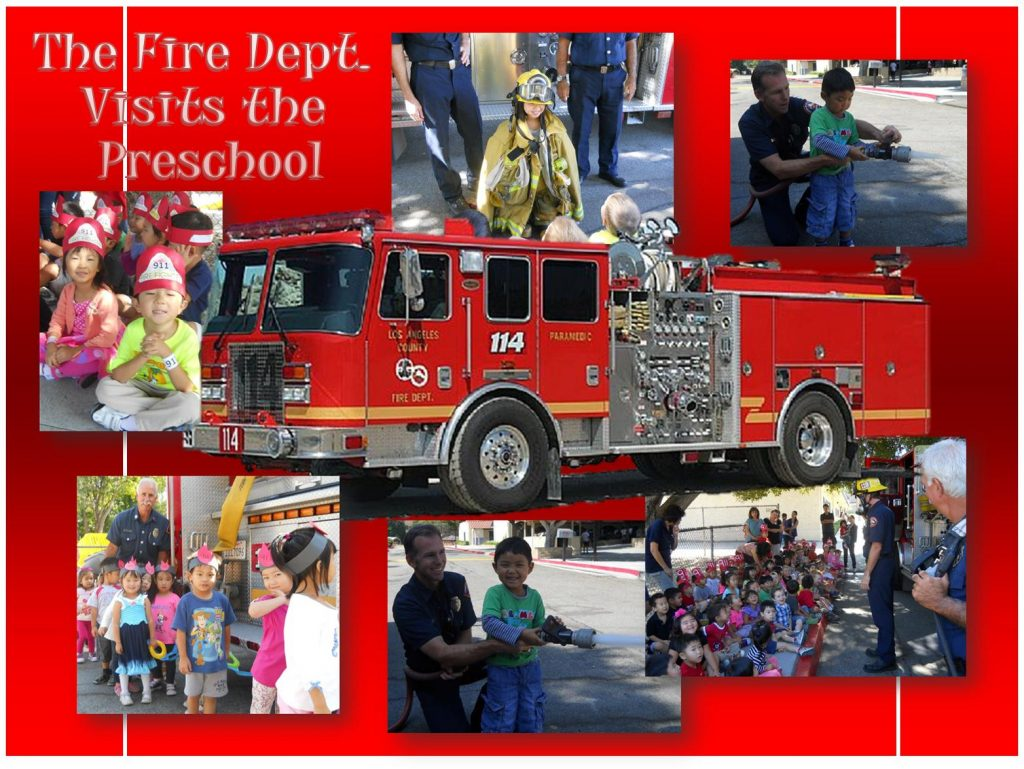 """""""Stop. Drop and Roll!"""" The Fire Department Visits our Preschool"""