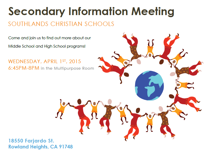 Secondary Information Meeting
