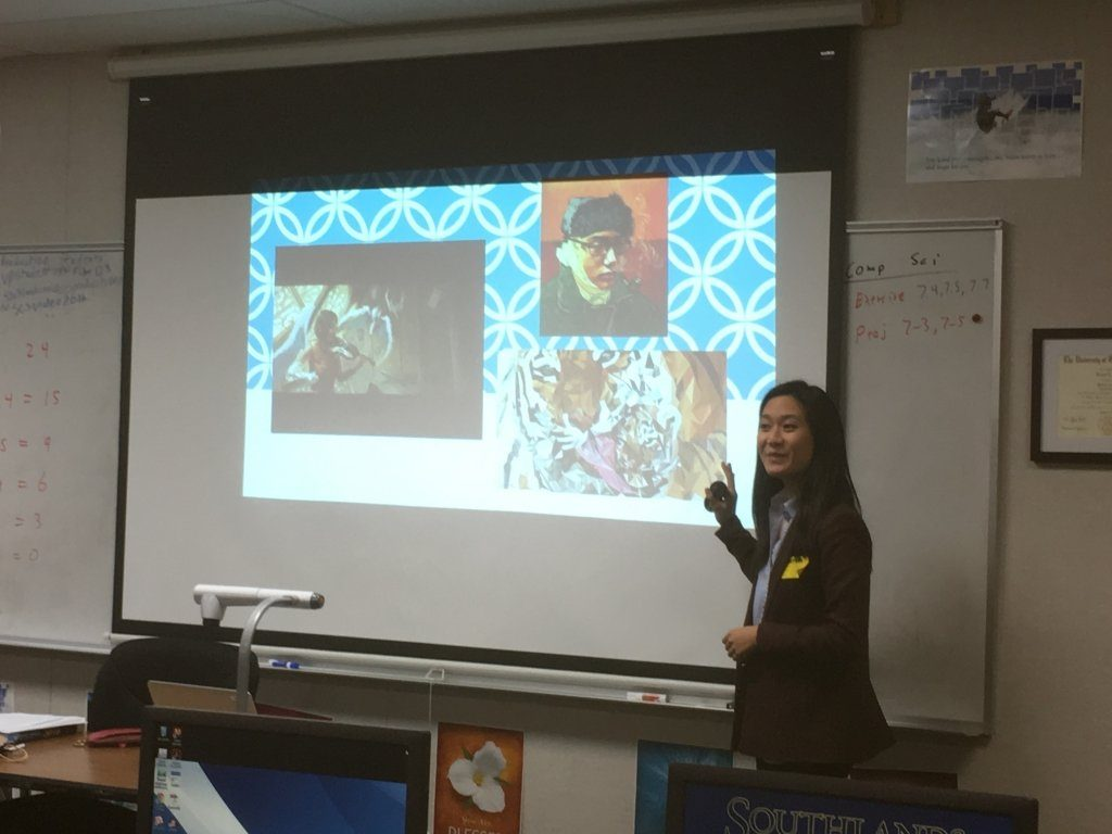 Lauren Pong from Congressman Ed Royce's Office Visits Art Students