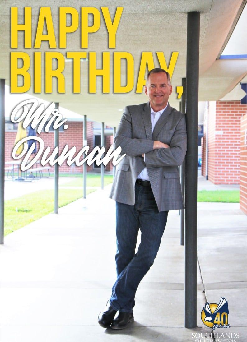 Southlands Spotlight: Mr. Glenn Duncan