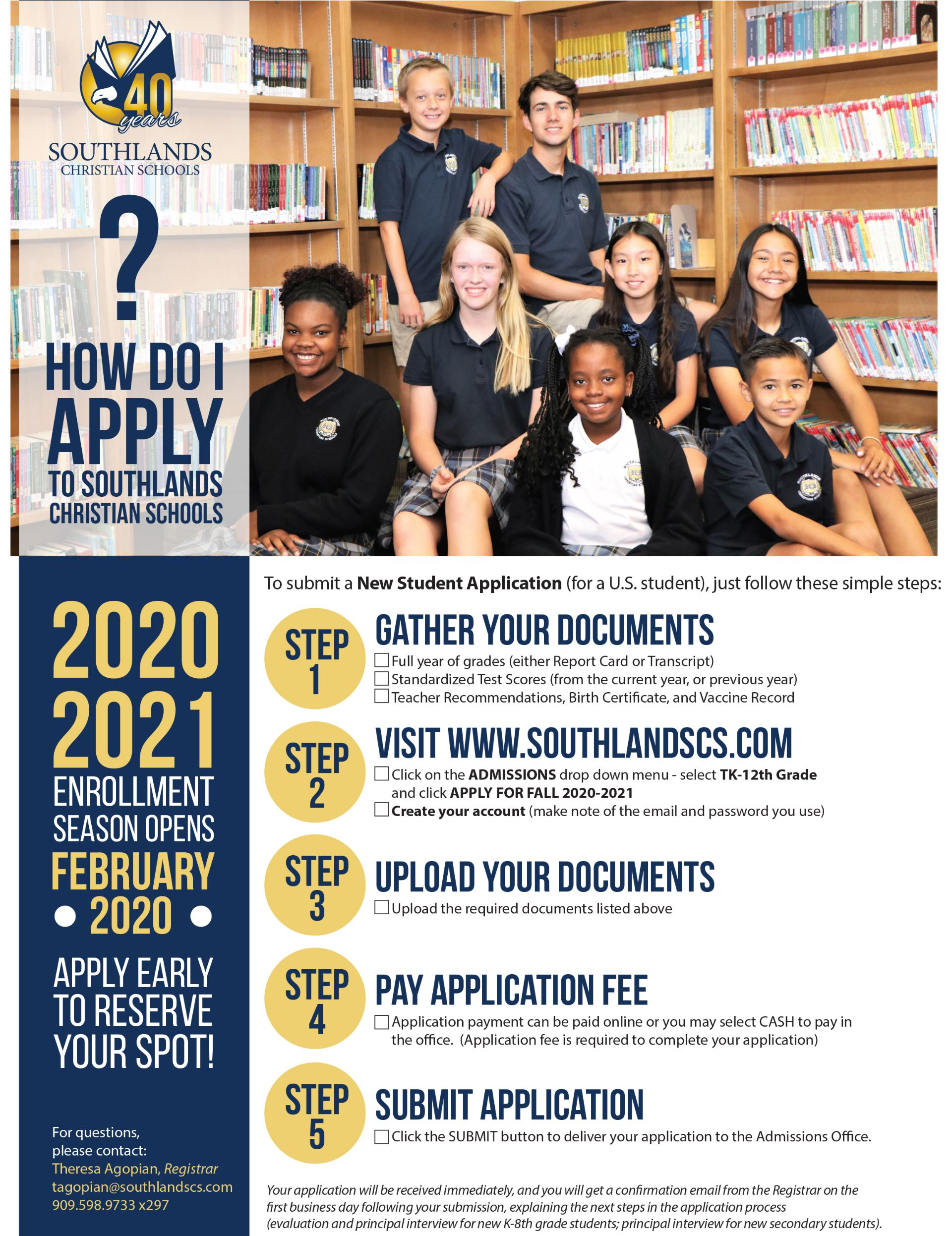 Southlands Admissions Local Students